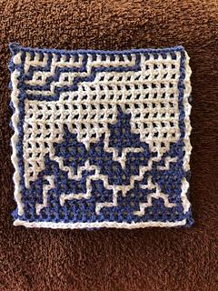 Crocheted by Kimberly Windsor-Johnson using the interlocking technique