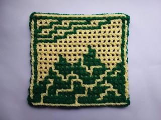 Crocheted by Kate Dudman, using Interlocking technique