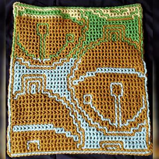 Crocheted by Divya Tellakula, using the interlocking /LFM technique