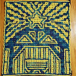 Crocheted by Divya Tellakula using the interlocking crochet technique