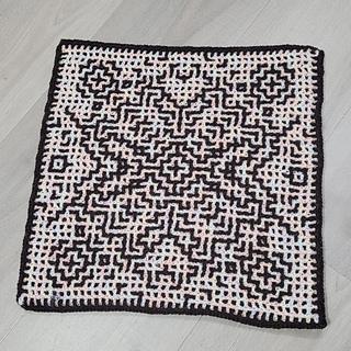 Interlocking crochet - wrong side