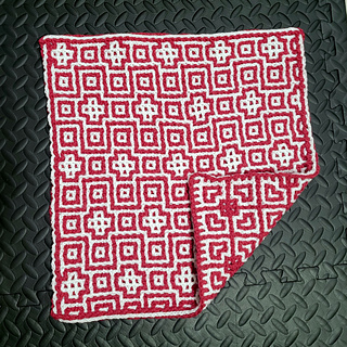The Interlocking technique creates a reversible fabric. Mosaic crochet will have stripes on the back.