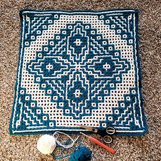 Interlocking crochet method.