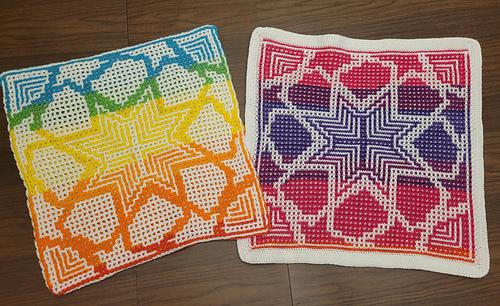 Interlocking and Mosaic Crochet Squares