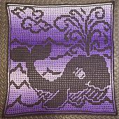 Interlocking sample crocheted by CynCityCrochets