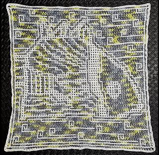 Interlocking crochet, white as Main Color, by CynCityCrochets