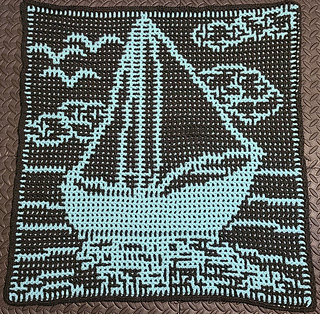 Interlocking crochet by cyncitycrochets, wrong side shows an almost-inversed image of the front.