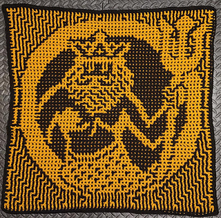 Interlocking Crochet by cyncitycrochets. Wrong Side shows in almost-inversed image of the Right Side.