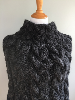 All Cables Knit Poncho