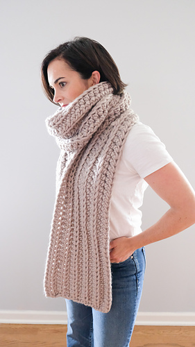 Ridge Crochet Scarf