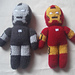 Knitted Iron Man/War Machine pattern
