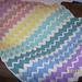 Pastel Rainbow Ripple Afghan pattern