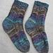 Italien - Multicolor-Socken mit Musterstreifen pattern