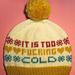 Winter Blues hat pattern