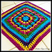 Rainbow Burst Reversible Granny Square pattern