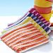 Beach Towel Stripe Dishcloths pattern