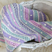 Bobble Stripe Blanket pattern