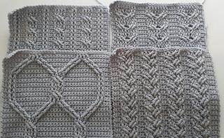 Ravelry Cable Crochet Squares Pattern By Elizabeth Ham