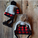 Baby Plaid Trapper Hat pattern