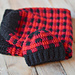 Plaid Baby Cocoon and Hat Set pattern
