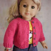 Classic Knitted Cardigan for American Girl Dolls pattern