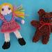 HMC2 Dolls house doll and teddy pattern