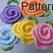 Rose Tawashi Flower Pot Scrubber pattern