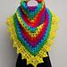 Crochet Rainbow Shawl Tutorial pattern