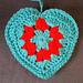 Crochet Granny Style Heart pattern