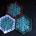 Crochet Hexagon Granny - Tutorial includes joining (5 videos) pattern