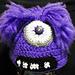 Evil Purple Monster Beanie Baby-Adult pattern