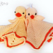 Chick and Duck Lovey pattern