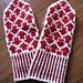 Arrow mittens(矢印ミトン) pattern
