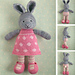 bunny girl in a dotty dress pattern