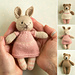 mini girl bunny and bear pattern