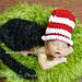 Kitty in a Striped Hat pattern