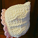 469 cable baby bonnet pattern