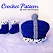 535 Little Prince/Princess Crown and Booties pattern