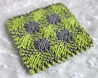 Straight plaid washcloth