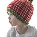 Christmas Plaid Baby Hat #2 pattern