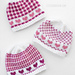 Valentine Plaids Hats pattern