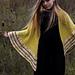 Yellow Slice Shawl pattern