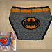 Batman/Superman Diaper covers with belt pattern
