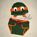 Baby NinJa Turtle Hat and Diaper Cover Set pattern