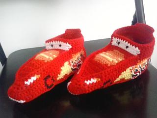 Ravelry: Lightning McQueen Slippers
