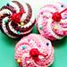 Swirly cupcake hairclip pattern