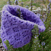 Floral ripples cowl pattern