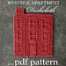 WESTSIDE APARTMENT DISHCLOTH pattern