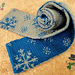 Double Knitting Snowflakes Scarf pattern