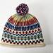 Rolled edge Germantown fair isle hat pattern
